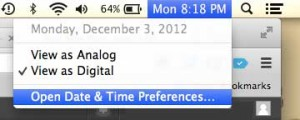 click the date and time preferences option