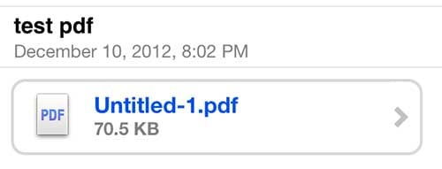 long press the pdf attachment in the mail app