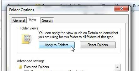apply current view setting to all folders
