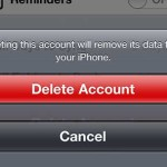 Confirm that you wish to delete the account
