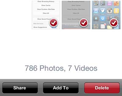 Select the pictures to delete, then press the Delete button