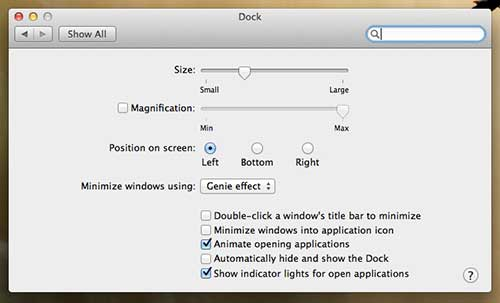 Select your dock location
