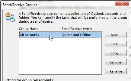 select the all accounts option