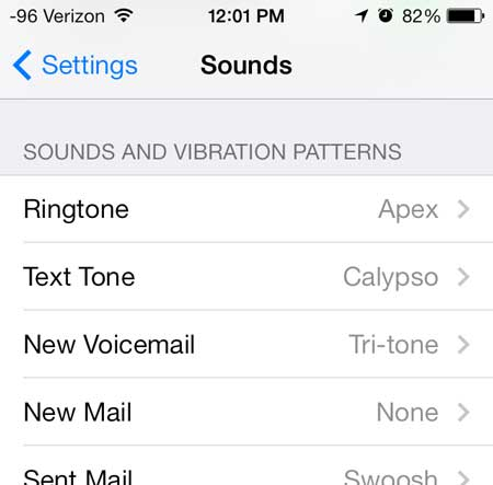how to change the ringtone on an iphone in ios 7