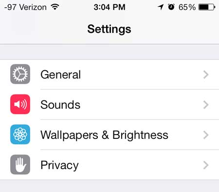 how to open space on iphone