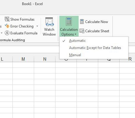 how to turn on automatic calculation in excel 2013 live2tech