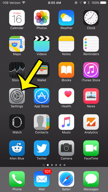 tap the settings icon
