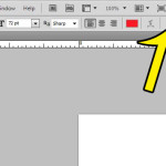 click the toggle character and paragraph panel button