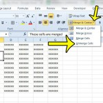 how to unmerge cells in excel 2010