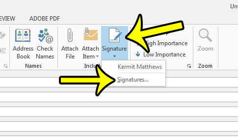 How To Change Signature On Outlook 2013 How to Create a New
