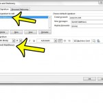 edit a signature in outlook 2013