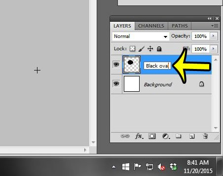 double-click the layer to rename it