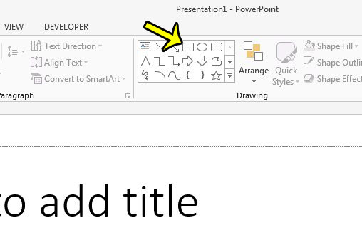 draw a rectangle in powerpoint 2013