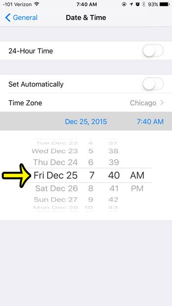 how to change the date on an iphone