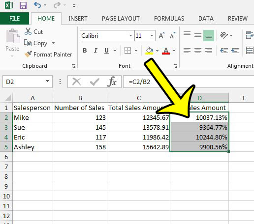How To Remove Percentage In Excel 2013 Live2tech