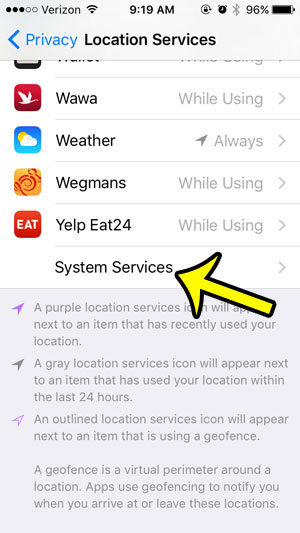 How To Hide The Status Bar Icon When Iphone System Services Are