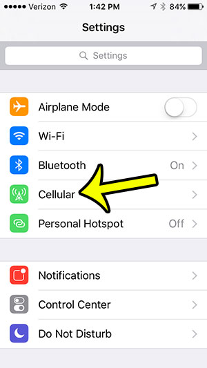 open cellular menu