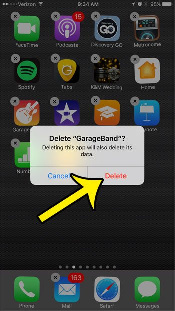 How to Delete GarageBand on an iPhone 7 - Live2Tech