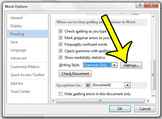 passive voice checker in Word 2013