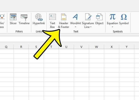 how to add a header in excel 2013