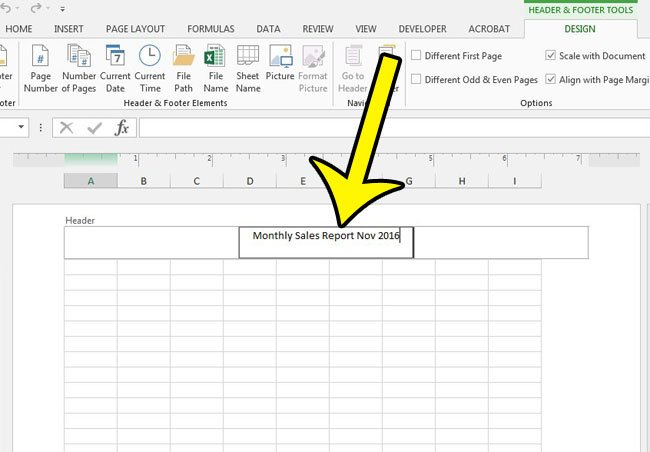 how to print a title at the top of every page in excel 2013