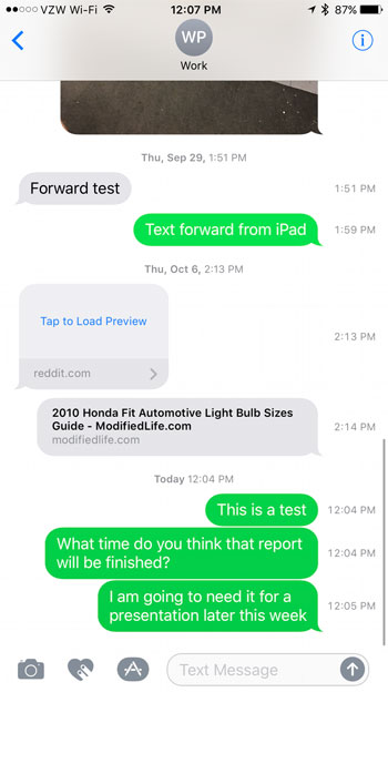 how to see when a text message was sent on an iphone 7