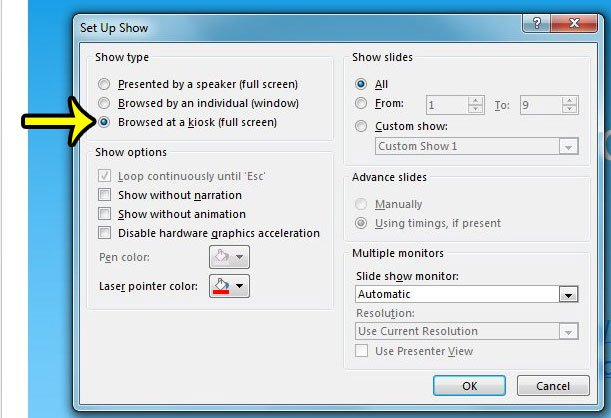 How to Enable Kiosk Mode in Powerpoint 2013 - Live2Tech