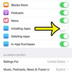 how to stop someone from installing apps on an iphone 7