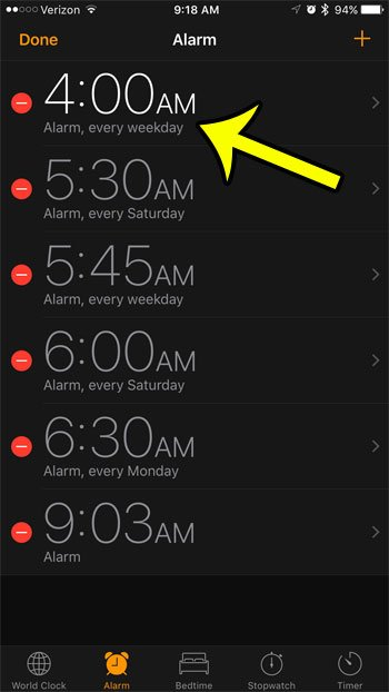 How To Turn Off The Snooze Option For An Alarm On An Iphone 7