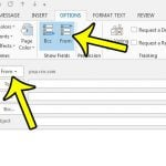 how to show the from field in outlook 2013