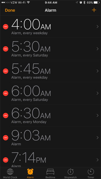select the alarm for which you want to set a song as the alarm
