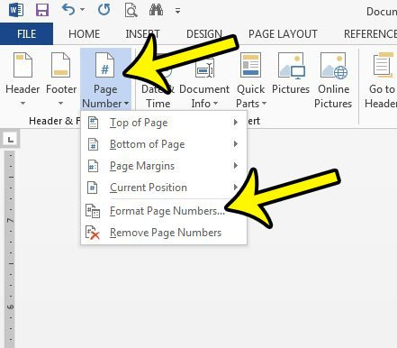 removing the page number from the title page in word 2013
