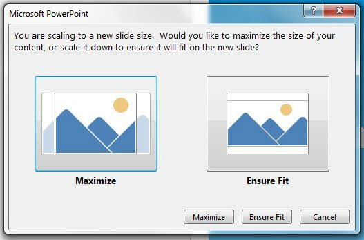 adjust page size in powerpoint 2013