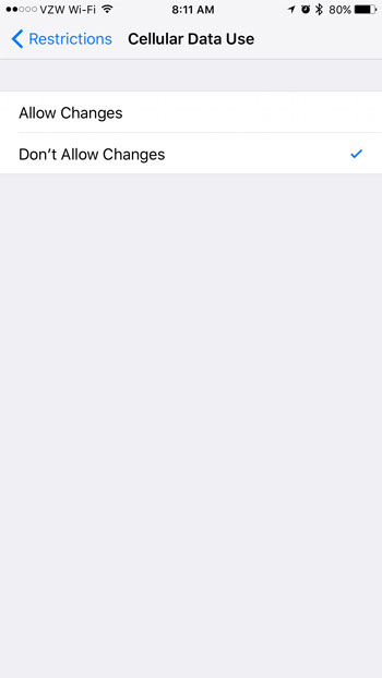 how to restrict netflix to wifi on the iphone
