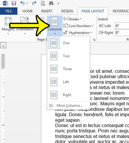 how to add a column in word 2013
