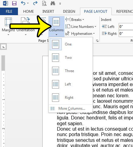 How To Add A Column In A Word 2013 Document Live2tech