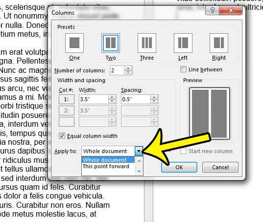 how to insert a column in word 2013