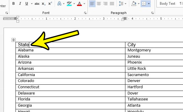 how to repeat a table header in word 2013
