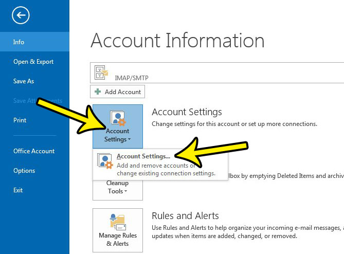 how to find the outgoing port in outlook