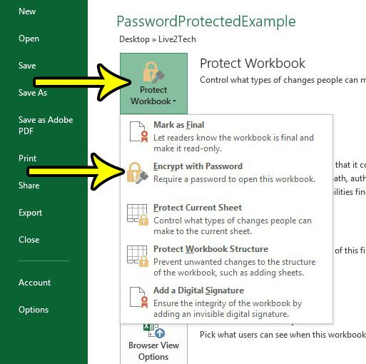 how to password protect a spreadsheet in excel 2013