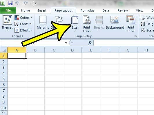 how to switch from letter to legal in excel 2010