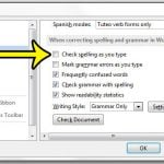 how to turn off the spell checker in word 2013