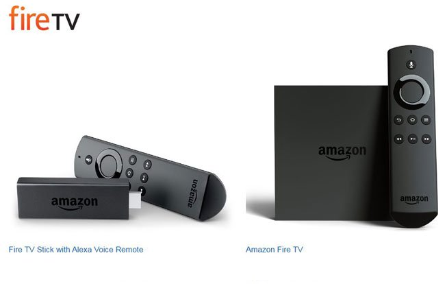 fire tv stick vs fire tv