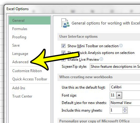 how to change the excel ruler unit of measurement