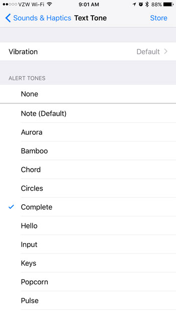 how to change iphone text messaging sounds
