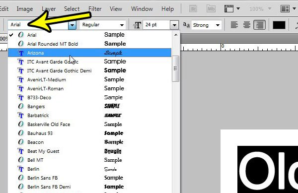 how to change fonts in photoshop cs5