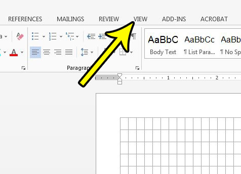 how to get rid of gridlines in word 2013