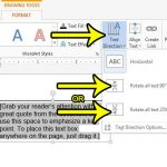 how to write vertically in word 2013
