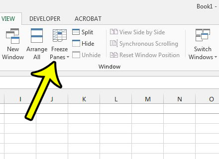how to remove top row from top of excel 2013
