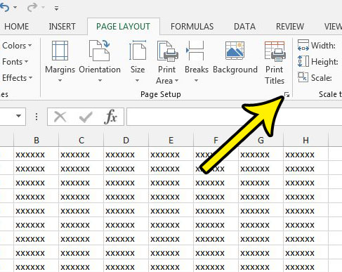 center vertically when printing in excel 2013